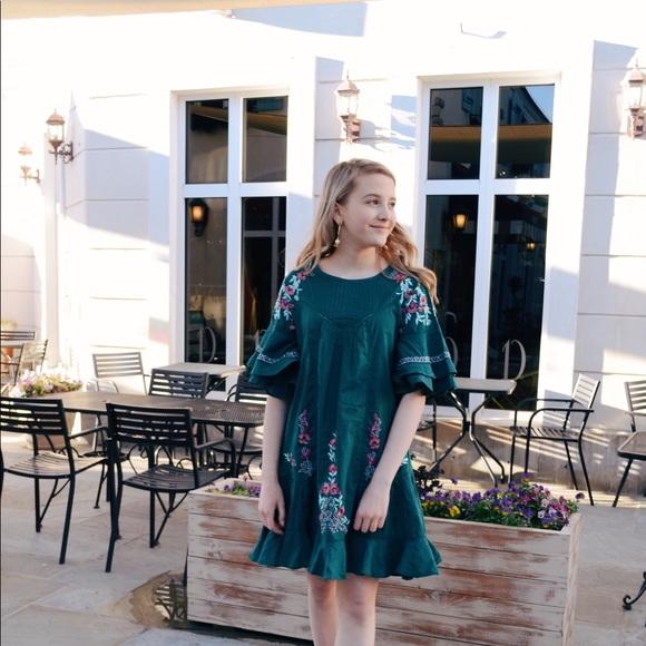 cc99aa108ee6 Free People Dresses   Skirts - Free People Pavlo dress bright emerald